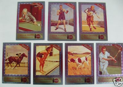 Coca Cola Series 4 Subset - Complete 7 Card Sports Favorites Set - NEW 1995