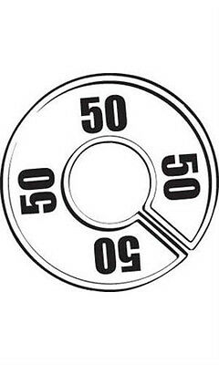 Count of 50 New 50 Round Size Dividers Black On White 28-50