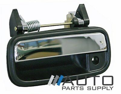 Toyota Hilux Door Handle LH Front Outer Black/Chrome 1988-1997 *New*