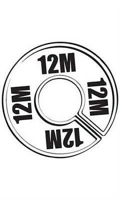 Count of 50 New 12M Round Size Dividers Black On White 28 12M