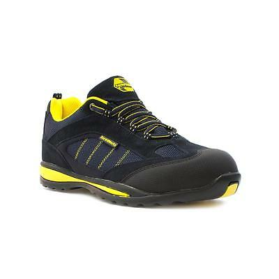 Earth Works Safety Footwear - EarthWorks Unisex Navy Leather Lace Up Shoe
