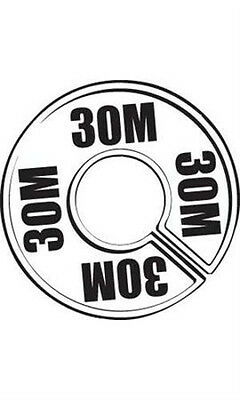 Count of 50 New 30M Round Size Dividers Black On White 28-30M