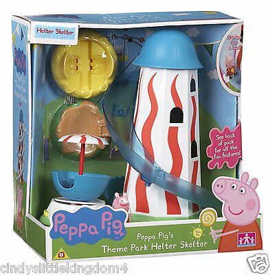 New Peppa Pig Theme Park Fair Ground  Helter Skelter Toy Playset & Peppa figure