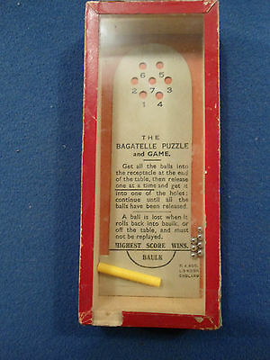Antique Hand Held Bagatelle Puzzle Game