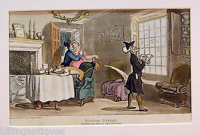 Engraving Dr.syntax  Rowlandson  Dr.syntax Copying Window Wit  Ackermans 1813