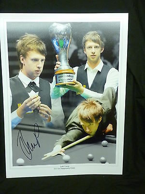 Judd Trump Signed Snooker Large Montage