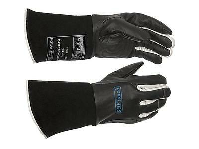 WELDAS Black Leather Multi Process Mig / Tig / MMA Welding Gloves HIGH QUALITY