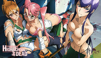 297 Highschool of the Dead PLAYMAT CUSTOM PLAY MAT ANIME PLAYMAT FREE SHIPPING