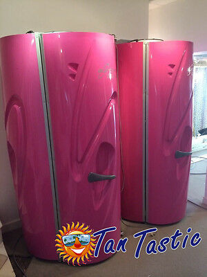 Aurora Sunbed Stand up Tanning Sun Bed Vertical 48 - 60 Tube 225 watt Tan .
