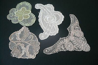 Antique Vintage French Cotton Lace Appliques (4)