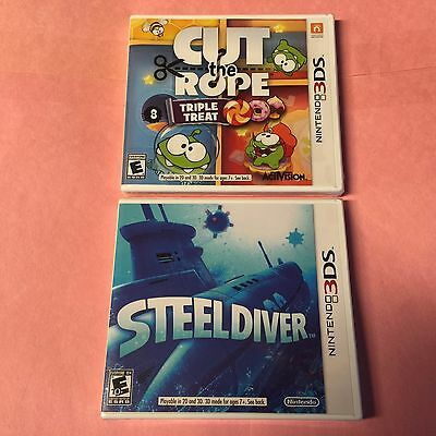 CUT the ROPE Triple Treat + STEEL DIVER Nintendo 3DS -NEW