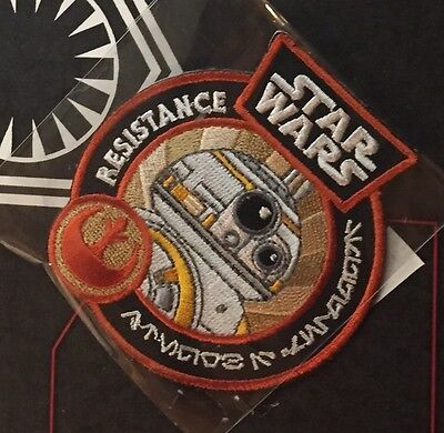 Star Wars Smuggler's Bounty Exclusive BB-8 Patch & Poe Pin Pop! Force Awakens LE