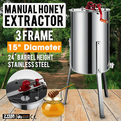 3/6 Frames Stainless Steel Honey Extractor With Cover & Honey Outlet Manual