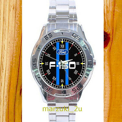 NEW RARE Ford F-150  CUSTOM CASUAL CHROME MEN'S WATCH WRISTWATCHES
