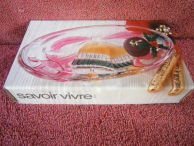 Savoir Vivre  Holiday  Spirt Heavy  Oval  Candy  Dish  Wy064/506
