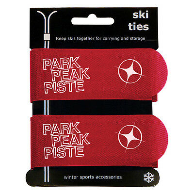 2 Jumbo Velcro Ski Ties Ideal For School Ski Trips Keeps Your Ski Tidy Red