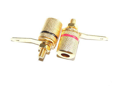 Gold Plated 4mm banana binding post amplifier speaker terminal audio connector