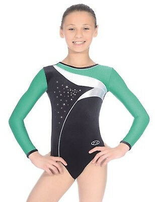 The Zone Cosmic Jewel Long Sleeve Velour Gymnastics Leotard - Girls Sizes