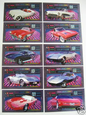 Corvette Heritage Collection - 10 Card Milestone Subset Time Machine - 1996 New