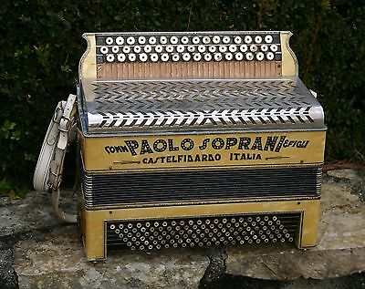 ANCIEN ACCORDEON de COLLECTION PAOLO SOPRANI & FIGLI 1920 - 1930