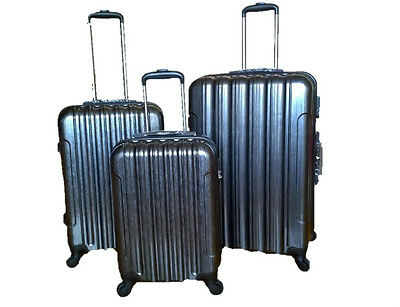 New Suitcase Luggage Hard Shell Lightweight 3 SET 4 Wheel Spinner Cases GRAPHITE