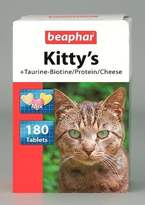 Cat Vitamin by Beaphar Kittys Mix with taurine biotin protein cheese 180 tablets