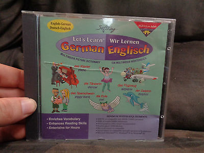 LET's learn german_used CD rom_ships from AUSTRALIA_CM9
