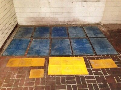 "Concrete Stamps, 12"" Tile Pavers Pattern w/ handles Qty Of 10"