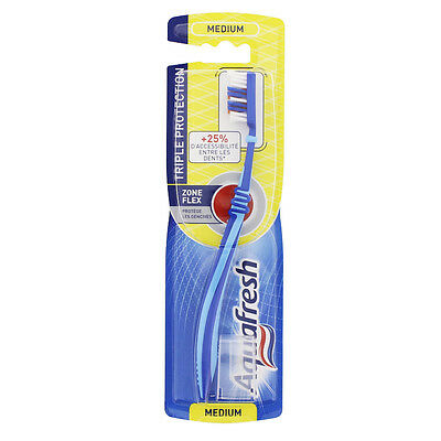 Aquafresh Brosse à dents Triple Protection Médium