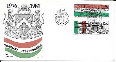 Transkei 1981 Independence Stamps on First Day Cover