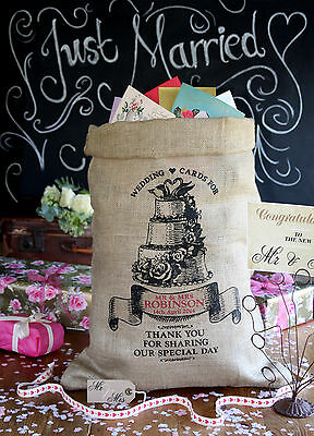 Personalised Wedding Post Box Sack, Card holder, Wishing Well, cake design