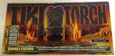 "ARISTOCRAT Belly Plexiglass "" TIKI TORCH """
