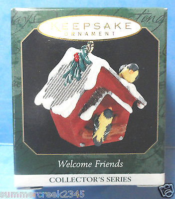 "Hallmark ""Welcome Friends"" Miniature Ornament Dated 1999"