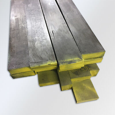 """1 Piece - 2-1/4 x 4 x 12"""" C1018 Cold Rolled Mild Steel Flat Bar. Ships UPS"""