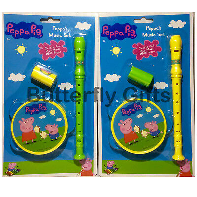 Peppa Pig Toy Music Set (Whistle, Tambourine & Flute) Free UK Postage