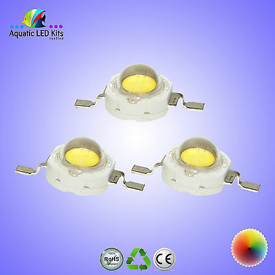1W & 3W EPISTAR,Bridgelux,Epiled High Power LED Chip,Aquarium,Grow Light DIY UK