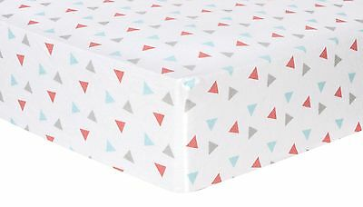 Coral Triangles Deluxe Flannel Fitted Crib Sheet