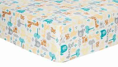 Lullaby Zoo Deluxe Flannel Fitted Crib Sheet