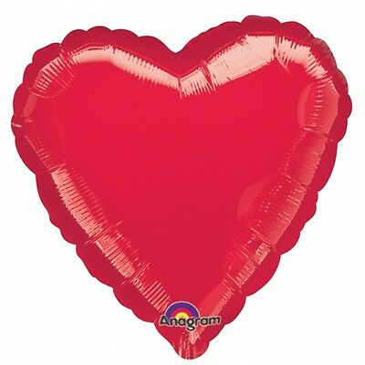 12 RED HEART Foil Helium BALLOONS Valentines Day Wedding Engagement Decorations