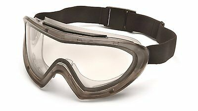 Pyramex Capstone Grey Safety Goggle/Glasses, Clear AF Lens, EGG504T