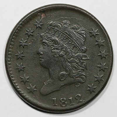 1812 S-291 R-2 Small Date Classic Head Large Cent Coin 1c