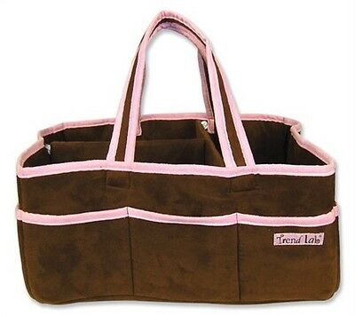 Storage Caddy - Brown With Pink Trim