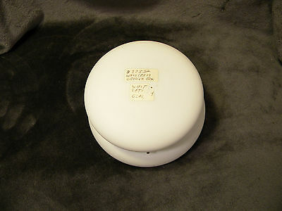 "Antique WAVECREST w/White Satin Finish Dresser Box, 6"" in diameter & 3 1/2"" tall"