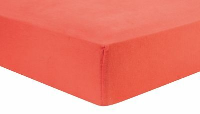 Coral Deluxe Flannel Fitted Crib Sheet