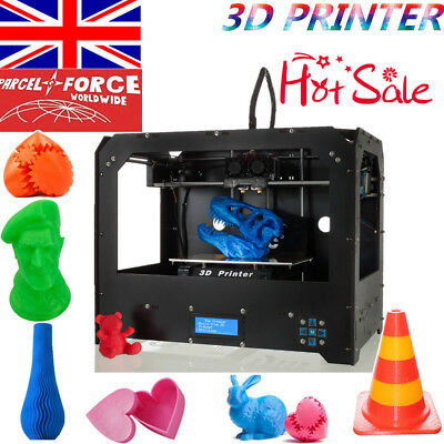 2016 Upgraded Full Quality High Precision Dual Extruder 3d Printer - PLA ABS