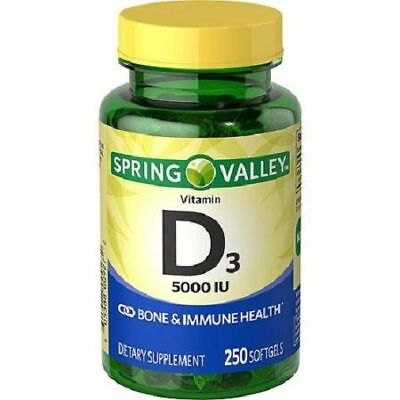 Spring Valley Vitamin D3 5,000 IU Supplement Softgels