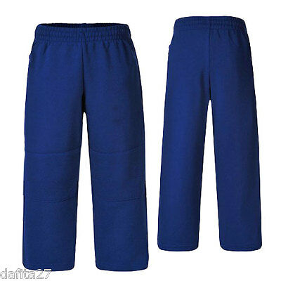 Boys Girls Kids Teens Track Pants Unisex Royal Blue School Size 4,6,12,14,16