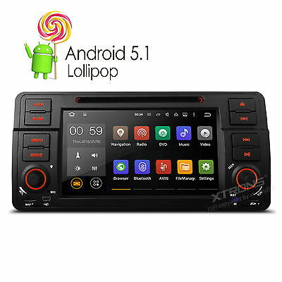 "7"" Android 5.1 Autoradio DVD GPS für BMW E46 320 325 Screen Mirror OBD2 DAB+ RDS"