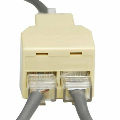 RJ45 Splitter Ethernet Cable Y Joint Network LAN ISDN Adapter input to 2x8 Pin