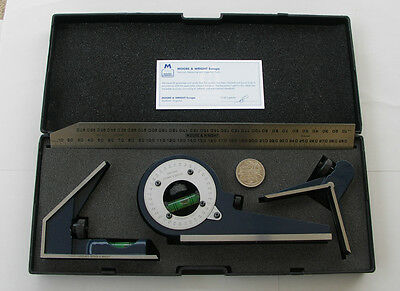 Precision Combination Set Csm300 Ctr Protractor Square Moore & Wright England